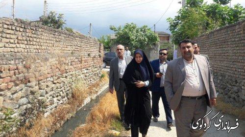 بازدید مدیرکل دفتر امور شهری و شوراهای استان از سطح شهر کردکوی