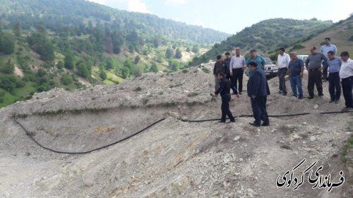 قدمنان فرماندار کردکوی:  آب شرب روستای جهان نما با هزینه ۱۰۰ میلیون تومان احداث می شود.