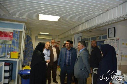 بازدید فرماندار با حضور خیرین شهرستان از مجموعه بیمارستان امیرالمومنین (ع) کردکوی