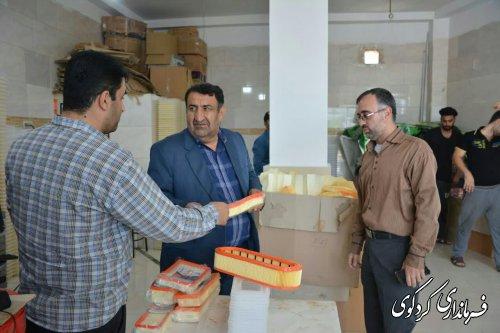 """فرماندارکردکوی از یک واحد تولیدی به نام """" ایمن صنعت تمیشه """" شهر کردکوی از نزدیک بازدید کردند"""