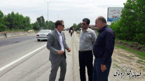 بازسازی و بهسازی یکی از نقاط حادثه خیز  در مدخل ورودی شهر کردکوی بطور ۳۰۰متر