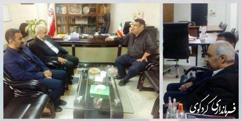 دکتر بنی عقیل مدیرکل انتقال خون استان با فرماندارکردکوی دیدار کرد