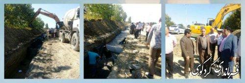 دو پروژه دور برگردان در حوزه استحفاضی بزرگراه کردکوی با اعتبار بیش از ۶ میلیارد تومان در حال اجراست