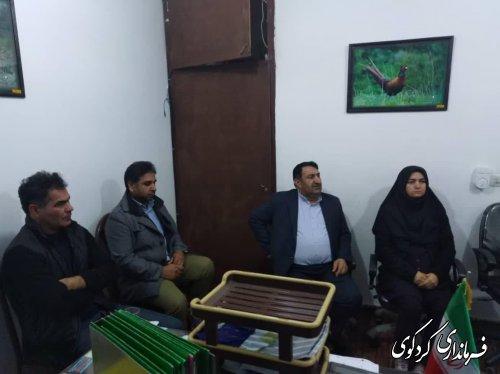 صبح امروز نشست صمیمی فرماندار با اعضای اتحادیه املاک و مستغلات شهرستان کردکوی
