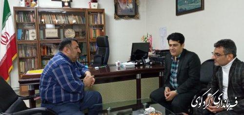 روسای اتحادیه تاکسیرانی و حمل و نقل شهری و انجمن حمل و نقل رانندگان کردکوی با قدمنان فرماندار  دیدار کردند.