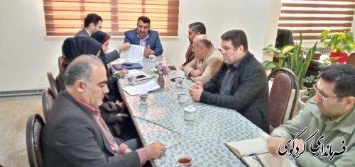 نخستین نشست شورای توسعه و حمایت از سازمانهای مردم نهاد شهرستان کردکوی برگزارشد