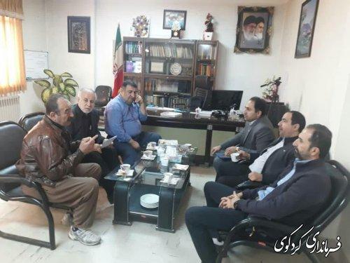 روسای دامپزشکی و اتحادیه قصابان کردکوی با فرماندار شهرستان دیدارکردند؛
