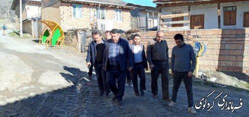 بازدید فرماندار کردکوی از روستای کوهستانی کنداب