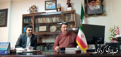 نشست مشترک قدمنان فرماندار کردکوی با استاندار و معاون سیاسی وفرمانداران استان گلستان