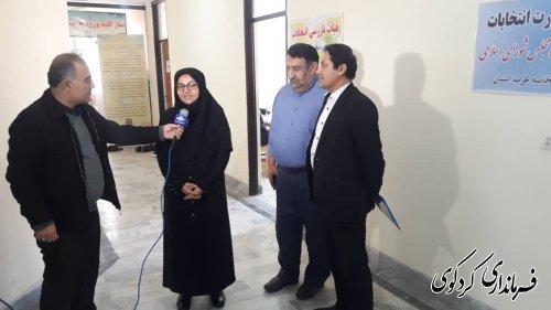 بازدید معاون توسعه مدیریت و منابع استاندار از ستاد انتخابات شهرستان کردکوی