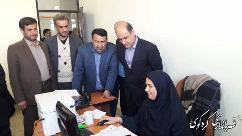 بازدید سرزده دکتر حق شناس از ستاد انتخابات شهرستان کردکوی