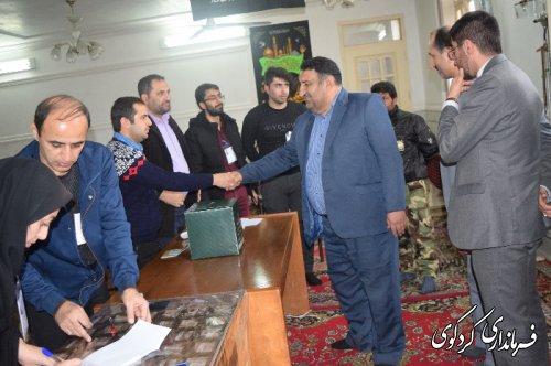بازدید فرماندار کردکوی از شعب اخذ رای شهرستان