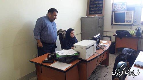 بازدید ابراهیم قدمنان از فعالیتهای حوزه فناوری اطلاعات  ستاد انتخابات شهرستان کردکوی