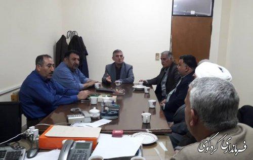 نشست مشترک فرماندار با اعضای هیئت اجرائی شهرستان