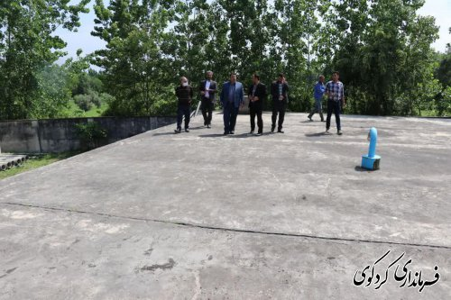 بازدید فرماندار از مخزن ۵ هزار مترمکعب و بررسی آب شرب شهرکردکوی