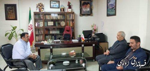 دکتر بنی عقیل مدیر انتقال خون استان با قدمنان فرماندار کردکوی دیدار و گفتگو کردند.