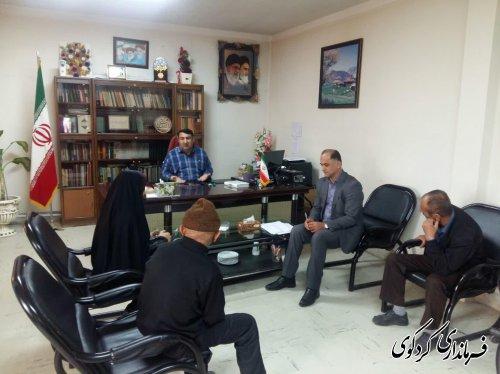 ملاقات عمومی امروز تعداد از شهروندان شریف شهرستان با ابراهیم قدمنان فرماندار کردکوی