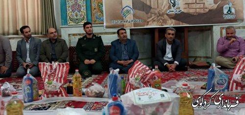 قدمنان فرماندار کردکوی:  ۱۶۰ بسته سبد کالا صبح امروز در بین مستمندان سطح شهرستان توزیع شد.