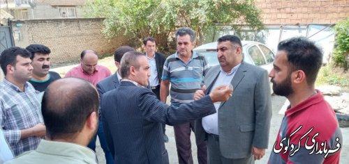 قدمنان فرماندار کردکوی: فاز اول طرح تعریض خیابان جنگل کردکوی اجرایی می شود .