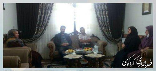 آئین دیدار و تجلیل از فرزند شهید میر نقی صمدی برگزار شد.