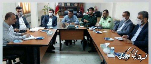 نشست فوق العاده ستاد مقابله با شیوع دوباره بیماری کرونا در فرمانداری کردکوی