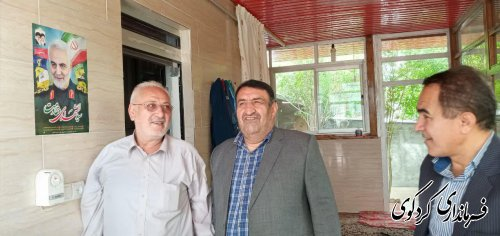 دیدار فرماندارکردکوی با جانباز 50درصد دفاع مقدس روستای خرم آباد
