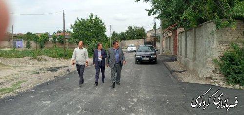 عملیات اجرایی زیر سازی و آسفالت جاده بین دو روستای چهارده و ایلوارین  به نام شهید رستمانی بازدید گرد.