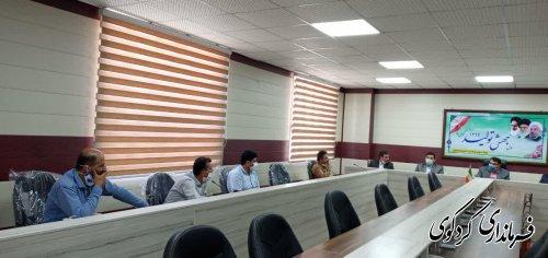 نشست مشترک مدیرکل سازمان صمت استان  و قدمنان فرماندار کردکوی با روسای اتحادیه های شهرستان