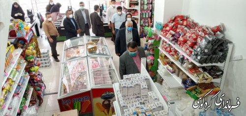 نخستین فروشگاه اینترنی محصولات غذایی کردکوی با حضور فرماندار کردکوی و مدیرکل صمت