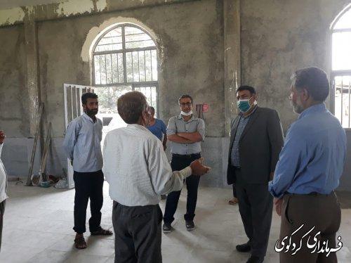 بازدید قدمنان فرماندار کردکوی از مزرعه شیخ افرا