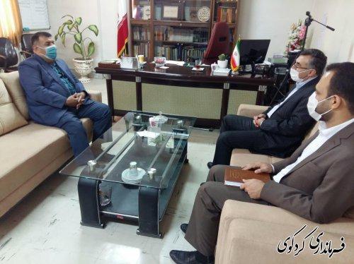با حضور علی دزگایی مدیر حوزه غرب بانک ملت استان ، با فرماندارکردکوی