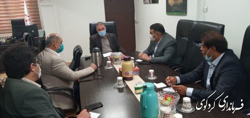 نشست مشترک ابراهیم قدمنان فرماندارکردکوی با محبوبی مدیر کل راه شهرسازی استان