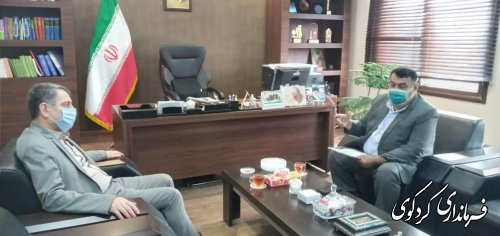 چهارمین نشست ابراهیم قدمنان  فرماندار کردکوی با رییس سازمان برنامه ریزی استان