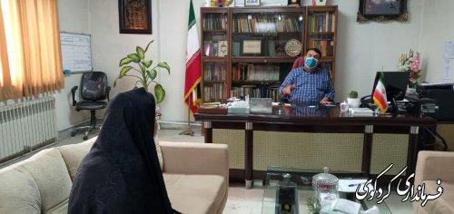 تعدادی از شهروندان بصورت جداگانه با ابراهیم قدمنان فرماندار کردکوی دیدار و گفتگو کردند