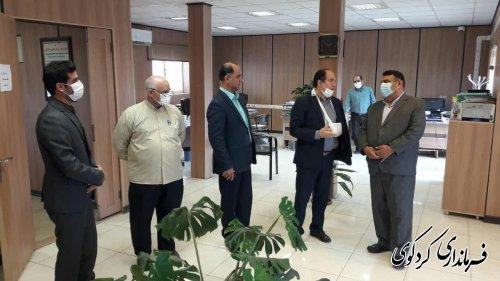 ابراهیم قدمنان فرماندار شهرستان مقارن ظهر امروز  بصورت سر زده از اداره امور مالیاتی شهرستان بازدید کرد.