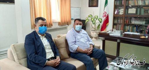 سجادی مدیرکل غله استان با فرماندار کردکوی دیدارکرد