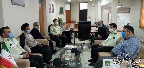فرمانده انتظامی کردکوی باتفاق هیات همراه با ابراهیم قدمنان فرماندار کردکوی دیدار و گفتگو کرد.