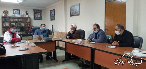 معاون امداد و نجات  به اتفاق  نماینده ولی فقیه جمعیت هلال احمر استان  و اعضای شورای اجرایی شهرستان با فرماندار کردکوی دیدار کردند