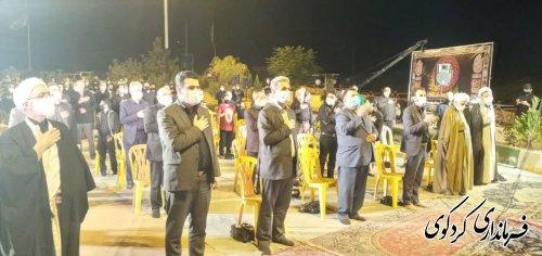 حضور فرماندارکردکوی در جمع عزاداران حسینی شهرستان