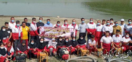 برگزاری مانور توانمندسازی امدادگران در سیلاب در کردکوی