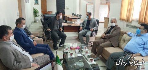نشست مشترک فرمانداران غرب استان با ملک حسینی دبیر ستاد انتخابات استان