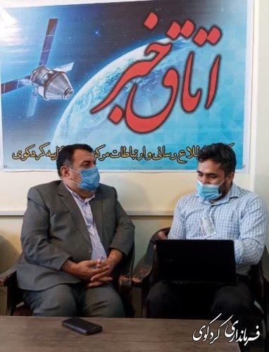 مصاحبه مطبوعاتی با خاندوزی خبرنگار خبرگزاری شبستان