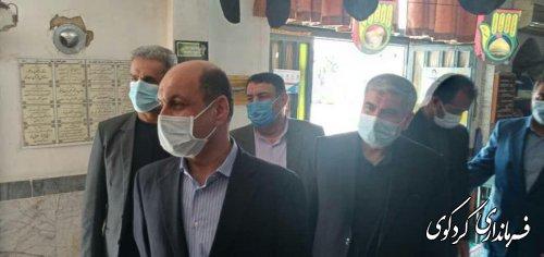 بازدید دکتر حق شناس استاندار گلستان و هیات همراه  از چند صندوق اخذ رای در کردکوی