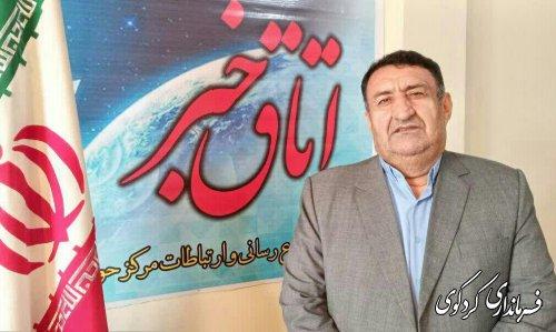 ابراهیم قدمنان فرماندار کردکوی  از مردم و عوامل برگزار کننده انتخابات این مرکز حوزه انتخابیه قدردانی کرد.