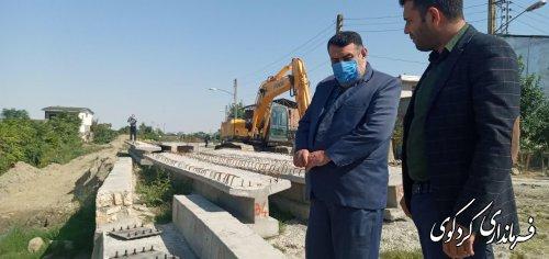 بازدید فرماندار کردکوی از اجرای طرح کنترل ترافیکی و ایجاد بلوار در خیابان جنگل