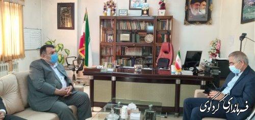 نشست مهندس ایری نماینده نماینده مردم غرب گلستان با ابراهیم قدمنان فرماندار به اتفاق مدیرعاومل آب و فاضلاب استان در کردکوی