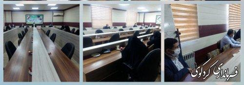نشست کارگروه تخصصی اجتماعی ،سلامت و بانوان در فرمانداری کردکوی برگزارشد