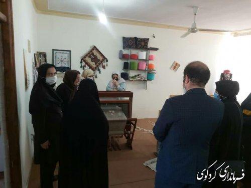 بازدید خانم غیناقی مدیر کل بانوان و خانواده استاتداری ، از فروشگاه کارآ؛فرین و ازانسرای کردکوی
