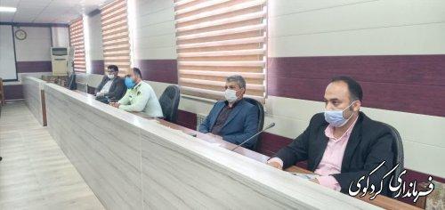 سومین جلسه شورای حفاظت اب به ریاست قدمنان  فرماندارکردکوی  برگزارشد