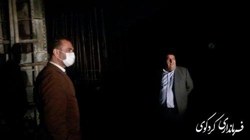 ابراهیم قدمنان فرماندار کردکوی به همراه بخشدار مرکزی از پروژه پل در حال ساخت روستای چمن ساور بازدید کردند